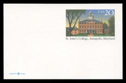U.S. Scott # UX 262, 1996 20c St. John's College, Annapolis Maryland - Mint Postal Card