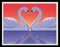 U.S. Scott # UX 279S, 1997 20c Love Swans - Mint Picture Postal Card Short Set of 4 (2202//2813)