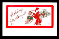 U.S. Scott # UX 198HOL, 1995 20c Red Barn, HOLIDAY GREETINGS Overprint - Mint Postal Card