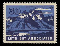 Associated Oil Company Poster Stamps of 1938-9 - # 30, Grand Teton National Park