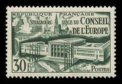 FRANCE Scott #  679, 1952 Council of Europe, Assembly Hall
