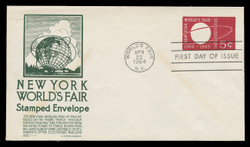 U.S. Scott #U546 5c N.Y. World's Fair Envelope First Day Cover.  Anderson cachet, GREEN variety.