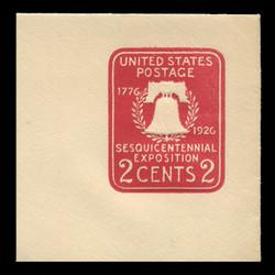 U.S. Scott # U 522, 1926 2c Sesquicentennial Expposition Die 1 - Mint Full Corner