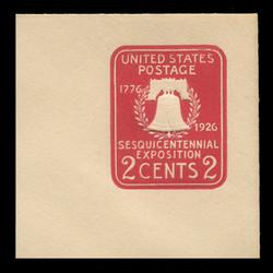 U.S. Scott # U 522a, 1926 2c Sesquicentennial Expposition Die 2 - Mint Full Corner