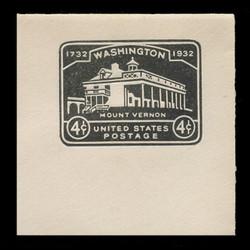 U.S. Scott # U 527, 1932 4c Washington Bicentennial - Mint Full Corner