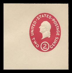 U.S. Scott # U 533a, 1950 2c Washington, Die 1 - Mint Full Corner