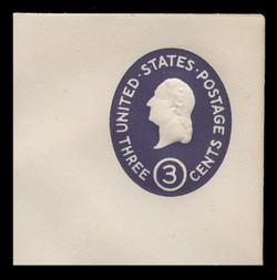 U.S. Scott # U 534c, 1950 3c Washington, Die 3 - Mint Full Corner
