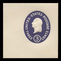 U.S. Scott # U 534d, 1950 3c Washington, Die 5 - Mint Full Corner