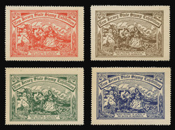 1935 New Jersey State Stamp Exhibition, Perforated -  Set of 4