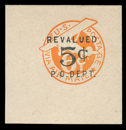 U.S. Scott # UC 10 1946 5c on 6c (UC3N) Plane, Orange Background, Die 2a, NO Border - Mint Full Corner