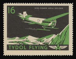"""Tydol Flying """"A"""" Poster Stamps of 1940 - #16, Byrd - Pioneer Aerial Explorer"""