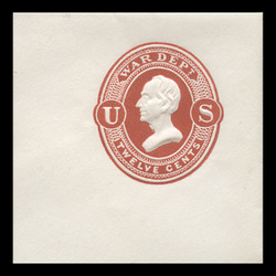 U.S. Scott # UO 026 1873 12c Henry Clay, dark red on white - Mint Full Corner