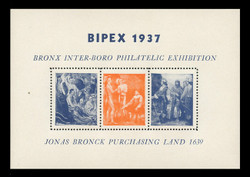 1937 BIPEX Philatelic Exhibition Souvenir Sheets -  Perforated