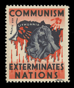 1950s (001) Communism Exterminates Nations Poster Stamp