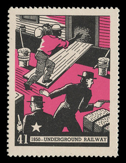 Chicagoland Poster Stamps of  1938 - # 41 Underground Railway, 1850