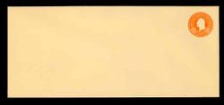U.S. Scott # U 530, 1932 6c Washington, Orange on Amber - Mint Envelope, UPSS Size 21