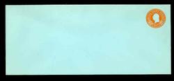 U.S. Scott # U 531, 1932 6c Washington, Orange on Blue - Mint Envelope, UPSS Size 21