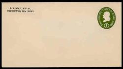 U.S. Scott # U 532b, 1950 1c Franklin, Die 3 - Mint Envelope, UPSS Size 10 (See Warranty)