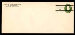 U.S. Scott # U 532bPR, 1950 1c Franklin, Die 3, Precancelled - Mint Envelope, UPSS Size 23 (See Warranty)