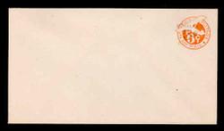 U.S. Scott # UC 13 1946 5c on 6c (UC6N) Plane, Orange Background, Die 3, NO Border - Mint Envelope, UPSS Size 13