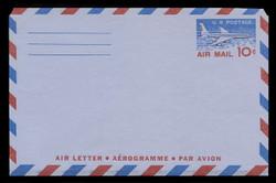U.S. Scott # UC 32a 1958 10c Jet Airliner, Type I, 3-Line Back - Mint Air Letter Sheet