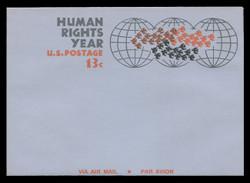 U.S. Scott # UC 42 1968 13c Human Rights Year - Mint Air Letter Sheet
