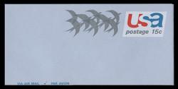 "U.S. Scott # UC 44 1971 15c Birds in Flight, ""Air Mail"" - Mint Air Letter Sheet"