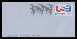 """U.S. Scott # UC 44a 1971 15c Birds in Flight, """"Air Mail/Aerogramme"""" - Mint Air Letter Sheet"""