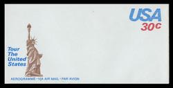 U.S. Scott # UC 53 1980 30c U.S.A., Brown Statue of Liberty - Mint Air Letter Sheet
