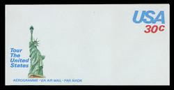 U.S. Scott # UC 54 1981 30c U.S.A., Green Statue of Liberty - Mint Air Letter Sheet