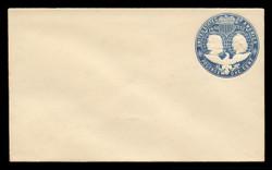 U.S. Scott # U 348C, 1893 1c Columbian, blue on white, Die 3(C) - Mint Envelope, UPSS Size 7