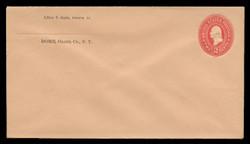 U.S. Scott # U 360, 1899 2c Washington, Die 1, carmine on buff - Mint Envelope, UPSS Size 10