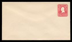 U.S. Scott # U 385, 1903 2c Washington, carmine on white - Mint Envelope, UPSS Size 10