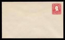 U.S. Scott # U 385, 1903 2c Washington, carmine on white - Mint Envelope, UPSS Size 11