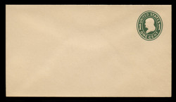 U.S. Scott # U 400a, 1907-16 1c Franklin, green on white, Die 2 - Mint Envelope, UPSS Size 10