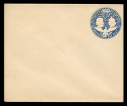 U.S. Scott # U 348C, 1893 1c Columbian, blue on white, Die 3(C) - Mint Envelope, UPSS Size 16