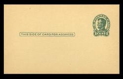 U.S. Scott # UX  28/UPSS # S40-2CA, 1917 1c Abraham Lincoln, Head 2, green on canary - Mint Postal Card (See Warranty)