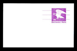 U.S. Scott # UX  88FM, 1981 (12c) Eagle - Domestic Rate - Mint Postal Card, FLUORESCENT (Medium Bright) PAPER (See Warranty)