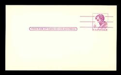 U.S. Scott # UX  48 FM/UPSS #S66B, 1962 4c Abraham Lincoln, Precancelled - Mint Postal Card, FLUORESCENT (Medium Bright) PAPER (See Warranty)