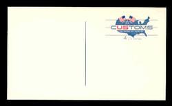 U.S. Scott # UX  50F, 1964 4c U.S. Customs Service, 175th Anniversary - Mint Postal Card, FLUORESCENT (See Warranty)