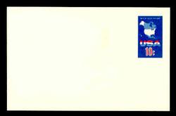 U.S. Scott # UX  59FM, 1971 10c Map of the United States - Mint Postal Card, FLUORESCENT (Medium Bright) PAPER (See Warranty)