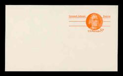 U.S. Scott # UX  66aFM/UPSS #S83bFM, 1973 6c Samuel Adams - Patriot Series - Mint Postal Card, COARSE, FLUORESCENT (Medium Bright) PAPER (See Warranty)