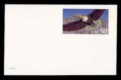 U.S. Scott # UX 219AFM, 1995 50c Eagle for International Rate - Mint Postal Card, FLUORESCENT (Medium Bright) PAPER (See Warranty)