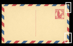 U.S. Scott # UXC  3 C/UPSS #SA3-TC 1958 5c Eagle, red on buff, with red & blue border, Type C - Mint Postal Card (See Warranty)
