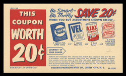 Colgate-Palmolive-Peet Co., 2¢ Store Coupon Card (On Scott #UX27) - Est. period of use, late 1940s.