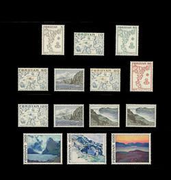FAROE ISLANDS Scott #   7-20, 1975 Maps & Scenes of the Faroe Islands (Set of 14)