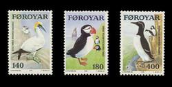 FAROE ISLANDS Scott #  36-8, 1978 Faroe Islands Sea Birds (Set of 3)