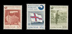 FAROE ISLANDS Scott #  21-3, 1976 Independent Postal Service (Set of 3)