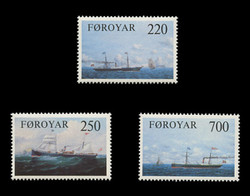FAROE ISLANDS Scott #  90-2, 1983 Faroese Cargo Ships (Set of 3)