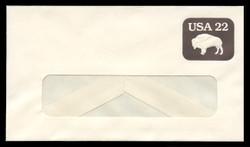 U.S. Scott # U 608/12-WINDOW, UPSS #3695/49A 1985 22c American Bison - Mint (See Warranty)